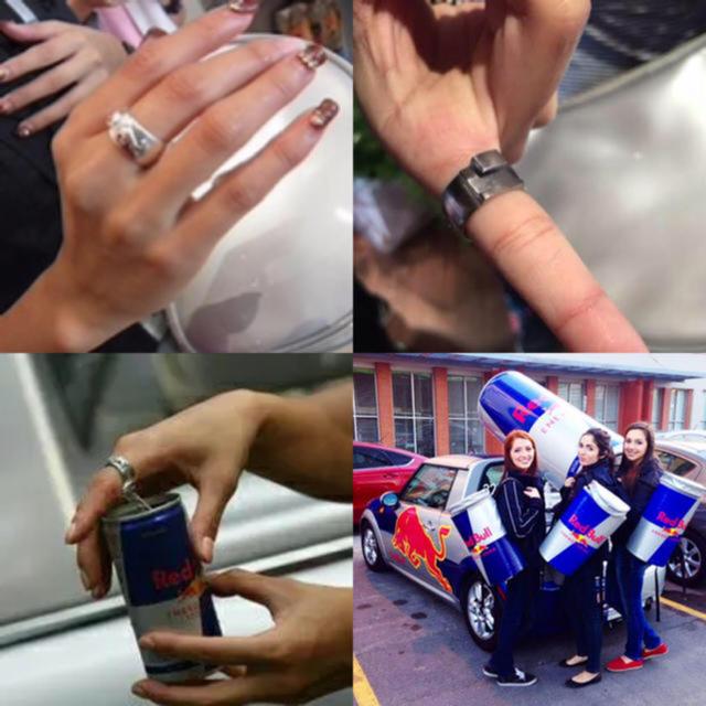 未使用 レッドブル 指輪 18号 販促 非売品 缶オープナー リング  メンズのアクセサリー(リング(指輪))の商品写真