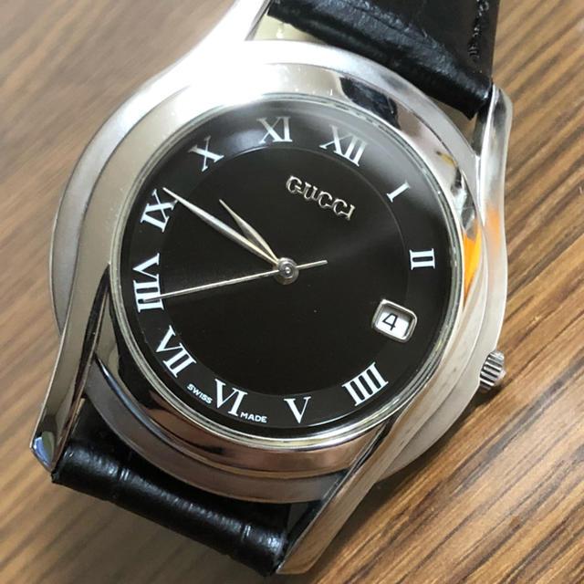 Gucci - グッチ 5500M メンズ クォーツ 腕時計 新品未使用皮ベルトの通販 by chami0555's shop|グッチならラクマ