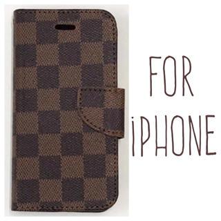 7395d2836b 送料無料☆茶 iPhoneケース iPhone8 7 plus 6 6s 手帳型(iPhoneケース