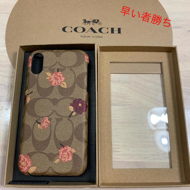 COACH - COACH iPhone xr XR ケース 花柄 ブラウ早い者勝ちの通販 by りん's shop|コーチならラクマ