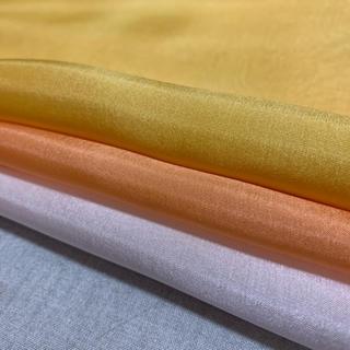 高級6匁羽二重黄色オレンジ3枚セット(生地/糸)