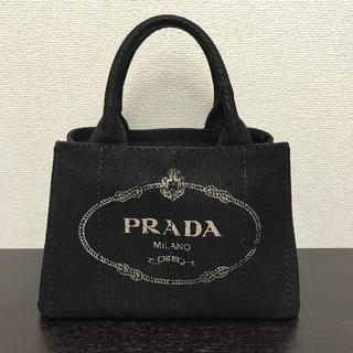 8fa010137250 プラダ(PRADA)のプラダ カナパ トートバッグ 黒 Sサイズ キャンバス(トートバッグ