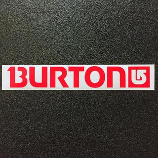 バートン(BURTON)の◇赤 蛍光色◇ BURTONロゴ カッティングステッカー 送料無料(アクセサリー)
