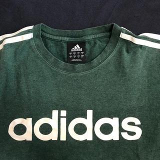 アディダス(adidas)のアディダスadidas☆トップスTシャツ長袖☆緑☆子供キッズメンズM(Tシャツ/カットソー(七分/長袖))