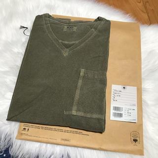 ダブルタップス(W)taps)のwtaps blank s/s-v Tシャツ Vネック サイズM カットソー(Tシャツ/カットソー(半袖/袖なし))
