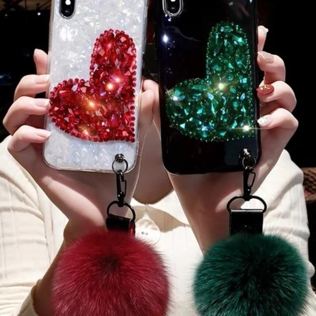 iPhone ハート カバー ケースの通販 by あずきち's shop|ラクマ
