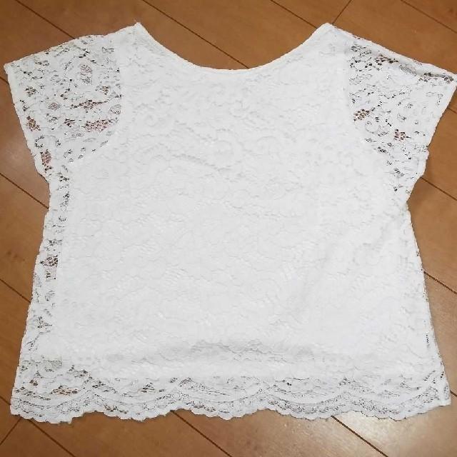GU(ジーユー)のGUレーストップス&ワイドロングパンツセットアップ  た レディースのトップス(シャツ/ブラウス(半袖/袖なし))の商品写真