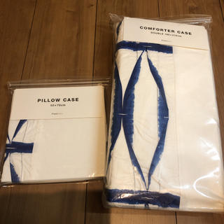 フランフラン(Francfranc)の専用です。フランフラン ダブル 掛け布団カバー 枕カバー セット バステ(シーツ/カバー)