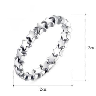 数珠繋ぎスターリング(リング(指輪))