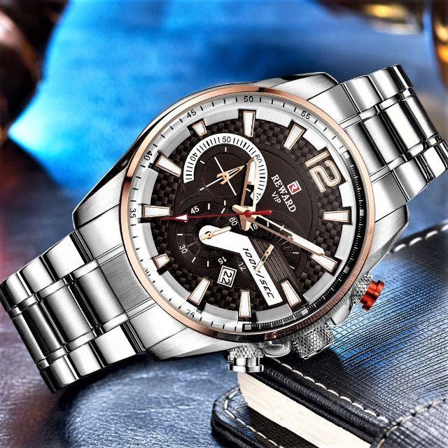 ★新品★ クロノグラフ腕時計 海外モデル 0256の通販 by まちのとけいやさん shop|ラクマ