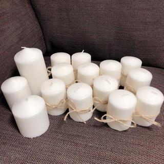 イケア(IKEA)のIKEA キャンドル まとめ売り 麻ヒモ付き(キャンドル)