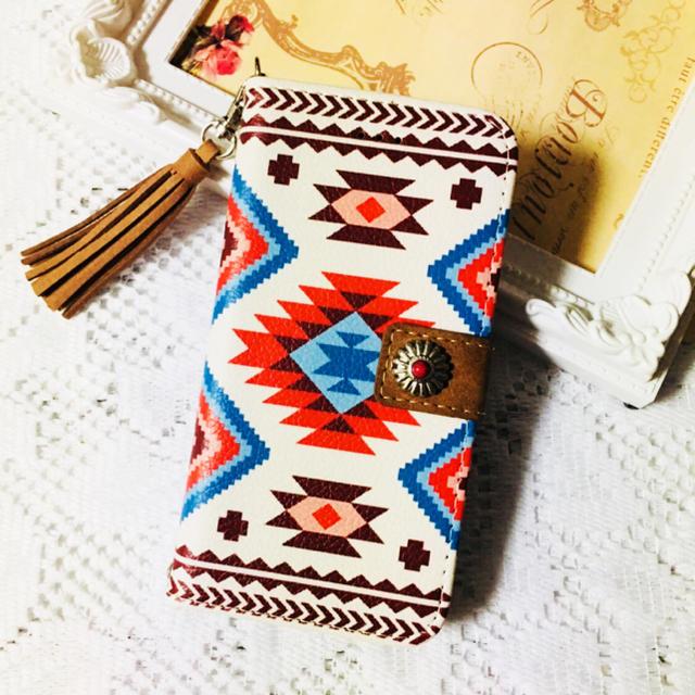 西海岸コンチョオルテガ柄iPhoneケース手帳型の通販 by TULIP's shop|ラクマ