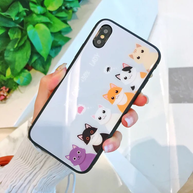 valfre iphone7 ケース jvc 、 【iPhone ケース】強化グラスフィルム スマホケース ねこの通販 by X'miracle's shop|ラクマ