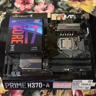 エイスース(ASUS)のLGA1151 マザーボードとi7-8700(PCパーツ)