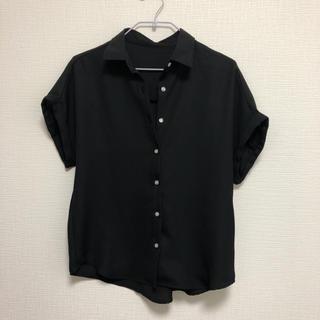 ジーユー(GU)のgu エアリーブラウス 半袖(シャツ/ブラウス(半袖/袖なし))