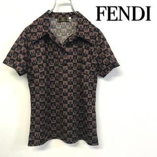 フェンディ(FENDI)の美品 FENDI トップス ポロシャツ風(ポロシャツ)
