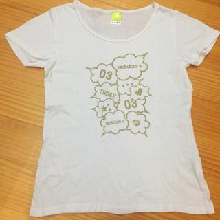 アディダス(adidas)のadidas アディダス Tシャツ L レディース(Tシャツ(半袖/袖なし))