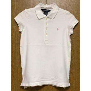 ラルフローレン(Ralph Lauren)の美品 ラルフローレン ポロシャツ 白×ピンク 120(その他)