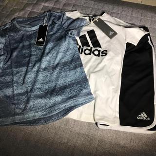 アディダス(adidas)のaadidas130セット半袖2パンツ(パンツ/スパッツ)