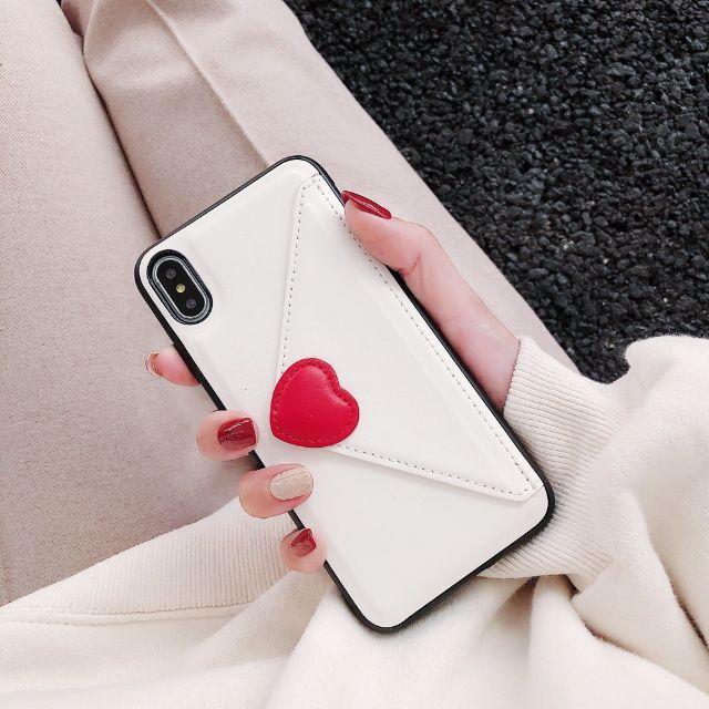 iphone x ic カード ケース / iPhone XR ラブレター ケース ホワイト 白 封筒 ラヴレターの通販 by ねこ's shop|ラクマ