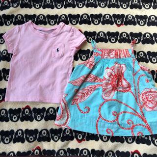ポロラルフローレン(POLO RALPH LAUREN)のポロラルフローレン  babyGAP Tシャツ ワンピース 80 女の子(シャツ/カットソー)