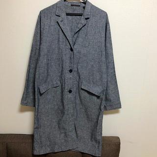 ユニクロ(UNIQLO)のユニクロ 麻&綿 ブルーグレー ライトコート(スプリングコート)