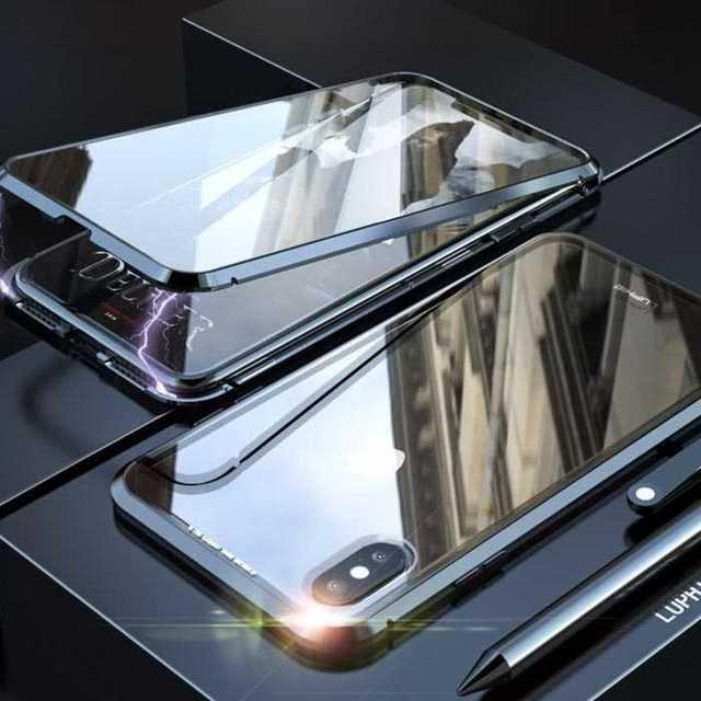 両面ガラスケース iPhoneXRカバー ブラック 全面保護 ガラスの通販 by トシ's shop|ラクマ