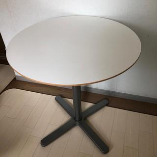 イケア(IKEA)の白 丸テーブル(コーヒーテーブル/サイドテーブル)