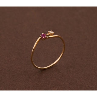 ルビー ダイヤモンド リング  K18(リング(指輪))