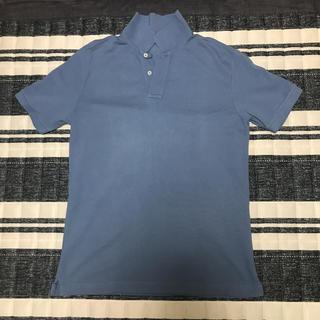 ムジルシリョウヒン(MUJI (無印良品))の無印良品 オーガニックコットン 鹿の子ポロシャツ スカイブルー Lサイズ(ポロシャツ)