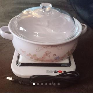 新品 保温&加温トレー  ホーロー鍋(鍋/フライパン)