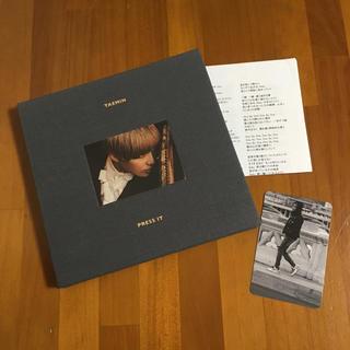シャイニー(SHINee)のCD TAEMIN PRESS IT テミン プレス イット(K-POP/アジア)