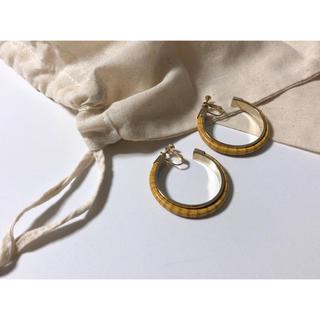 アッシュペーフランス(H.P.FRANCE)のロサト様専用*vintage hoop earrings バンブー調 イヤリング(イヤリング)