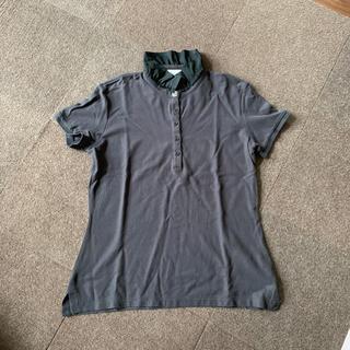 モンクレール(MONCLER)のmoncler モンクレール フリルポロシャツ 黒(ポロシャツ)