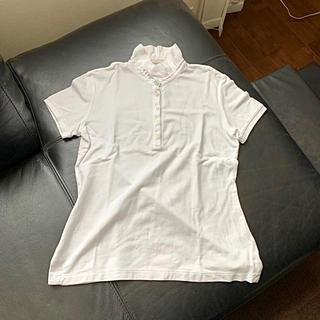 モンクレール(MONCLER)のmoncler モンクレール フリルポロシャツ 白(ポロシャツ)