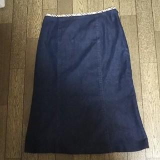 バーバリー(BURBERRY)のバーバリー ロンドン デニムスカート 40(ひざ丈スカート)