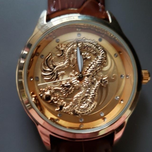 新作ドラゴンフェイスゴールド腕時計の通販 by Ryu's shop|ラクマ
