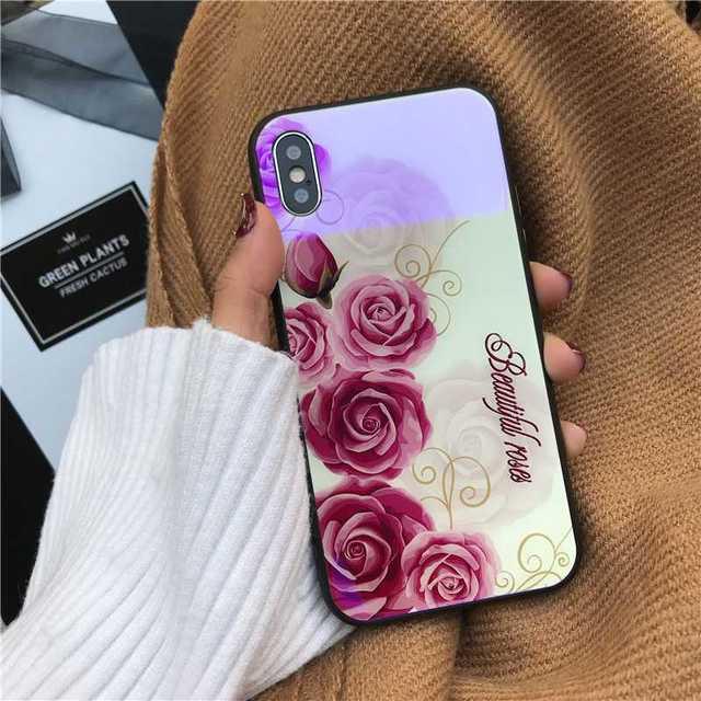 ysl アイフォーン8 ケース レディース / 花柄 iPhone8Plus iPhone7Plus 背面ガラス ホワイトの通販 by coco's shop|ラクマ