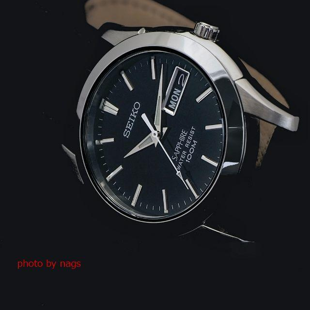 rorekkusu - SEIKO - NEW!SEIKOセイコークオーツ サファイア 腕時計メンズ(黒)の通販 by nags's shop ♪|セイコーならラクマ