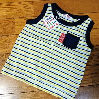 パーソンズキッズ(PERSON'S KIDS)のタグ付き新品! PERSON'S タンクトップ95 Tシャツ95cm ボーダー(Tシャツ/カットソー)