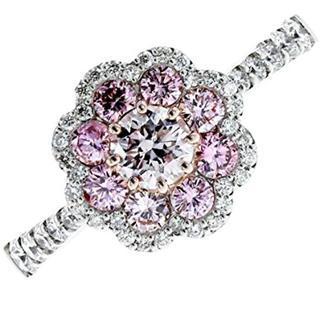ピンクダイヤモンド リング 0.339ct 【中古品】(リング(指輪))