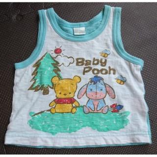 ディズニー(Disney)のBaby pooh  タンクトップ 80(タンクトップ/キャミソール)