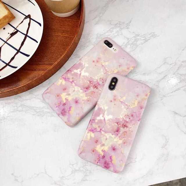 マーブルストーン iPhoneXS/X ケース TPU 大理石調 ピンクの通販 by トシ's shop|ラクマ