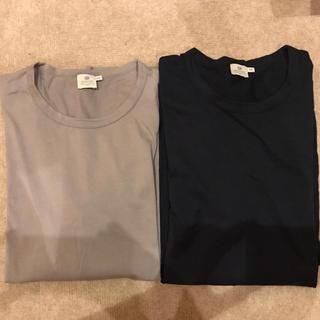 サンスペル(SUNSPEL)のSUNSPEL サンスペル クルーネックカットソー 2枚セット(Tシャツ/カットソー(七分/長袖))