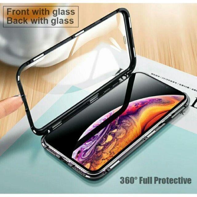aaa スマホケース iphone8 | フルカバー 両面強化ガラス スカイケース マグネット装着の通販 by にゃんこ's shop|ラクマ