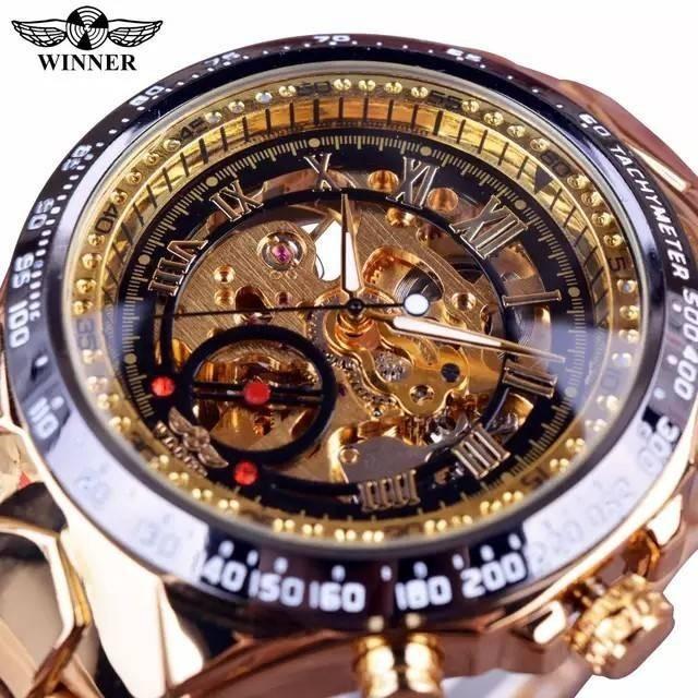 自動巻き 腕時計 ゴールド スケルトン レターパックの通販 by ファッションアイテム!'s shop|ラクマ