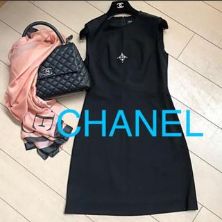 a22accb2bd66 シャネル(CHANEL)の美品CHANELシャネルリトルブラックドレス36(ひざ丈