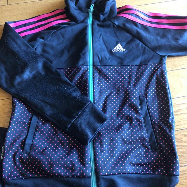 adidas(アディダス)のadidas ジュニア ジャージ 上着 ハーフパンツ 140 キッズ/ベビー/マタニティのキッズ服 女の子用(90cm~)(ジャケット/上着)の商品写真