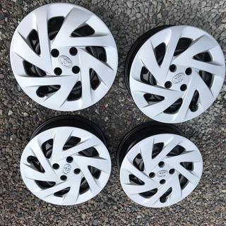 トヨタ(トヨタ)のアクア 鉄ホイール&ホイールキャップ 4個セット(ホイール)
