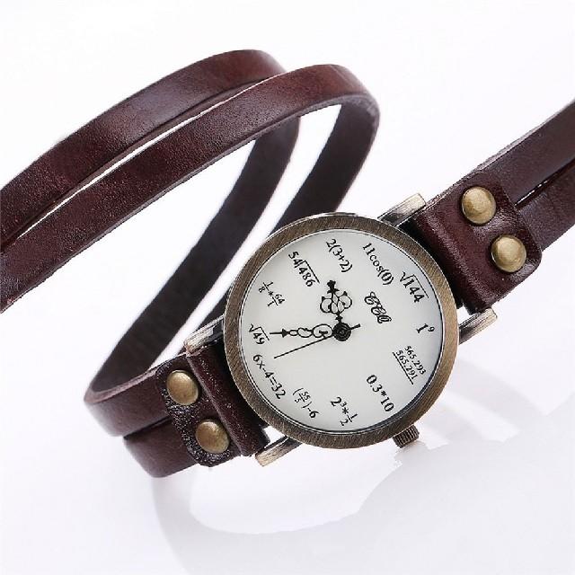 数式腕時計 ぐるぐる ブラウン フリーサイズ !の通販 by よろしくお願いします's shop|ラクマ